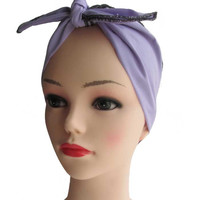 Lavender Fabric Head Wrap Scarf