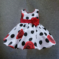 6M-3T baby girls dress Black Dot Red Bow infant summer dress for birthday party sleeveless princess floral vestido infantil Alternative Measures - Brides & Bridesmaids - Wedding, Bridal, Prom, Formal Gown