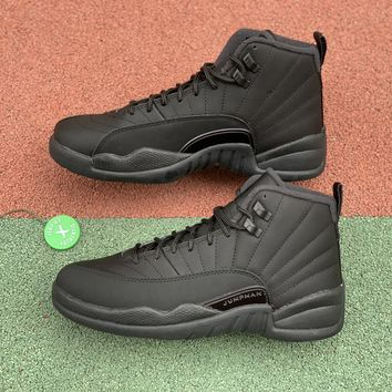 [Free Shipping ]Air Jordan 12 Retro WNTR Winterized BQ6851-001 Black Basketball Shoes