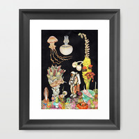 SPACE Framed Art Print by Ben Giles