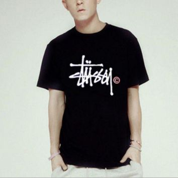 VONEGZ stussy Fashion Casual print pullover T-shirt top blouse Tee