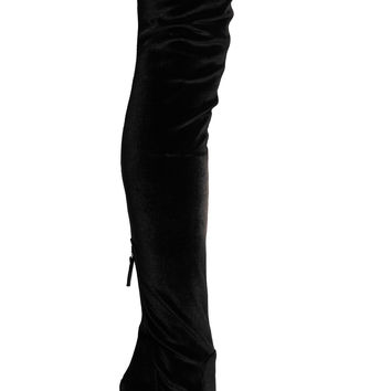 Aquazzura - Velvet over-the-knee boots