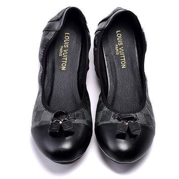 LV Louis Vuitton Women Fashion Dance Shoes Flats Shoes-1