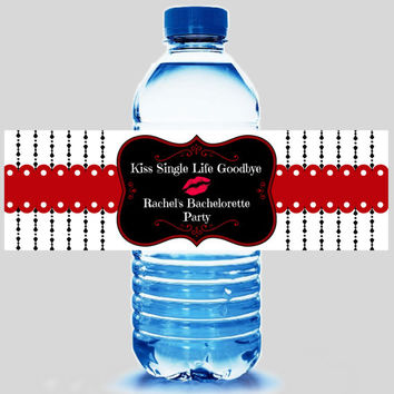 Bachelorette Party Water Bottle Label 5ct - Party Supplies - Bachelorette Party Favors - Hangover Kit - FREE Personalization