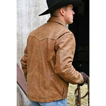 STS Ranchwear Men's Vegas Buckskin Leather Jacket - Sheplers