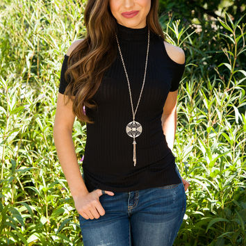 Heart On Your Sleeve Top - Black