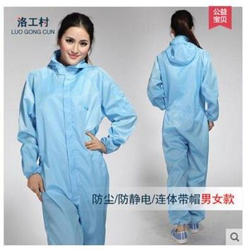 DCCKFV3 Jumpsuit Antistatic clothing garment of clean room Spray painting work clothes Clean clothes