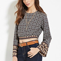 Contemporary Ornate Print Crop Top