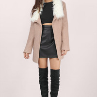 Florence Faux Fur Collar Coat