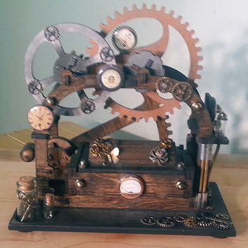 Steampunk Inspired, Kinetic, Mechanical Ring Box
