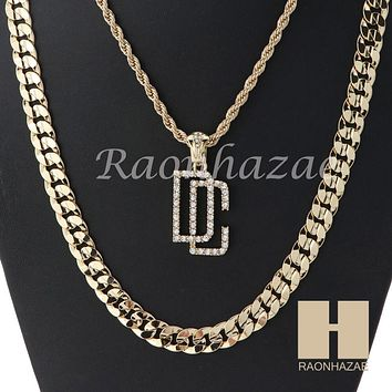 """ICED OUT DREAM CHASERS ROPE CHAIN DIAMOND CUT 30"""" CUBAN LINK CHAIN NECKLACE S09G"""
