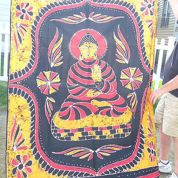 Buddha Tapestry Wall Hanging  Fabric  Bedspread  meditation