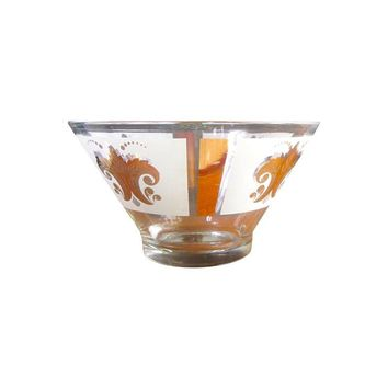 Pre-owned Georges Briard Hollywood Regency Large Glass Bowl