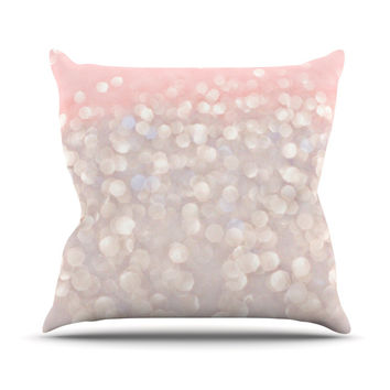 "Debbra Obertanec ""Magical"" Pink Glitter Throw Pillow"