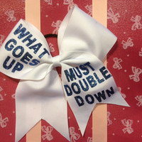 Cheer Bows /Double Down by KrisKrossBows on Etsy