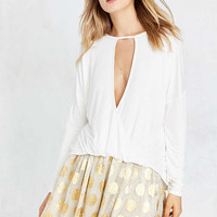 Silence + Noise Mia Plunging Cutout Surplice Top - Urban Outfitters