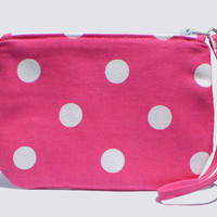 Makeup Bag, Jewelry Case, Small Wristlet - 2 color options - Free Shipping in the US