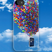 Tardis doctor who fly with baloons apple iphone 5, iphone 4 4s, iPhone 3Gs, iPod Touch 4g case by Pointsalestore .com
