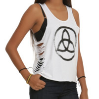 Graphic Slashed Tank Top