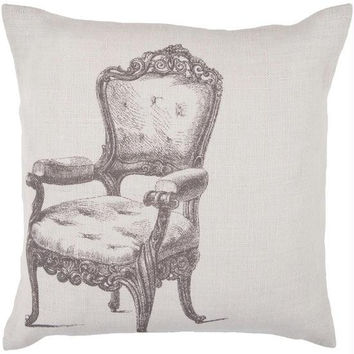 Victorian Chair Throw Pillow - Candice Olson Design