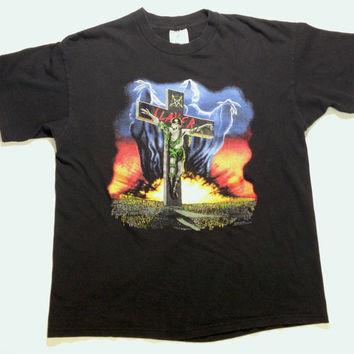 Vintage 90s SLAYER Seasons In The Abyss concert shirt
