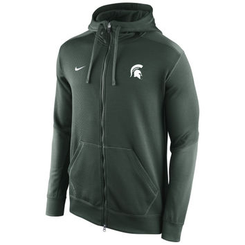 Michigan State Spartans Nike KO Chain Fleece Full Zip Performance Hoodie – Green