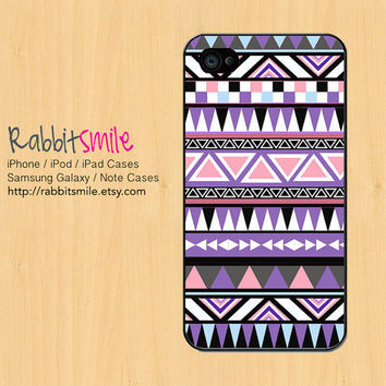 Purple Aztec iPhone 5 Case,Tribal iPhone 4 case, Geometric Pattern iPhone 4s Cover, Triangle Hard Plastic iphone 5 Cover, cases