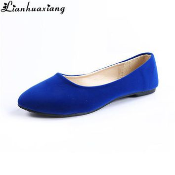 Womens Pointed Flat Loafer
