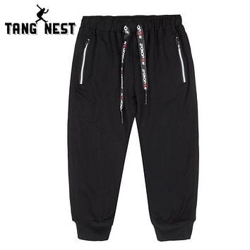 Cropped Pants New Design Men's Elastic Drawstring Waist Cropped Pants Simple Design Fashionable Pants