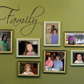 Family Wall Decal - Family Wall Art - Picture Wall Decal - Medium