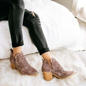 Smoke Lavender Booties