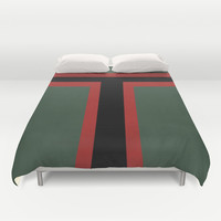 Star Wars - Boba Fett Duvet Cover by Juan Martos