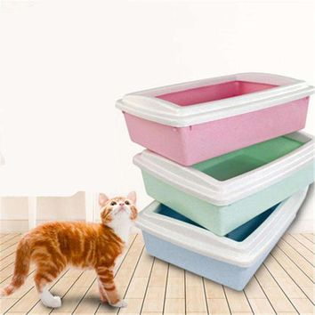 Enclosed Large Cat Closed Box Litter Health Supplies Plastic Box Toilet Litter Sand BedPan Basin Dog Pets House Trays QQM2415