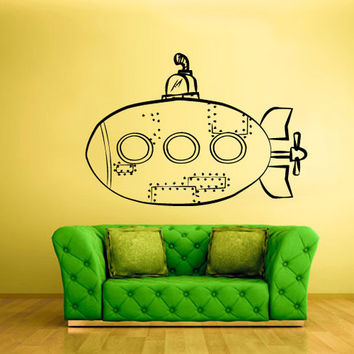rvz779 Wall Decal Vinyl Sticker Bedroom Nursery Kids Baby Submarine Sea Ocean
