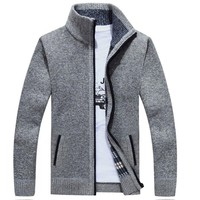 AFS JEEP Men's Sweater Zipper Cardigans AFS JEEP Casual Autumn Outwear Mens Cardigans Coat 56