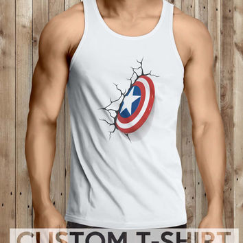 Shield Captain America Men Tanktop - tri1 Tanktop For Men  / Custom - Tanktop / Men Tanktop