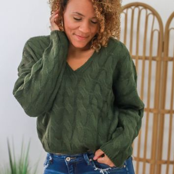 Take Me There Sweater - Olive