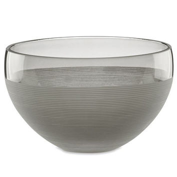 Harding Crystal Smoke Nut Bowl by Lenox