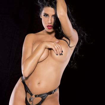Leather Chastity Thong
