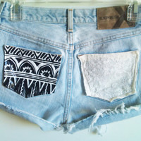 Customize Studded Tribal & Lace Pocket High by InfinitynBeyondx