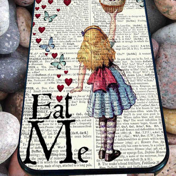 Alice in Wonderland Madhatter Chershire Cat  for iPhone 4/4s/5/5S/5C/6, Samsung S3/S4/S5 Unique Case *95*