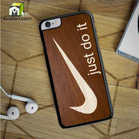 Just Do It Cream Wood iPhone 6S Plus Case by Avallen