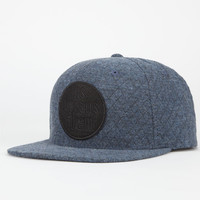 Us Versus Them Quilted Chambray Mens Snapback Hat Grey One Size For Men 24105711501