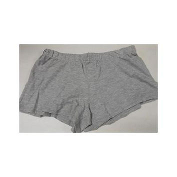 Women's Knit Sleep Shorts, Xsmall, Light Grey Heather Gilligan & O'malley