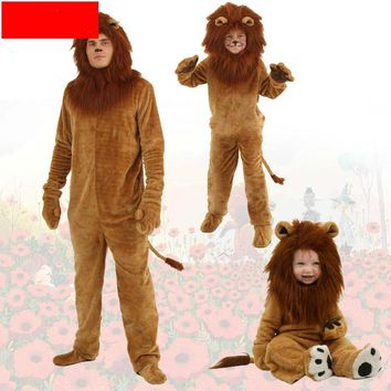 Adult/kids Animal Cosplay Halloween Costumes Animal Party Cosplay Oz Cartoon Lion Plush Cartoon Lion King Lion Siamese Costume