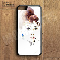 Audrey Hepburn Plastic Case iPhone 6S 6 Plus 5 5S SE 5C 4 4S Case Ipod Touch 6 5 4 Case