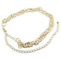 Gold Plated Link Waist Chain Belt