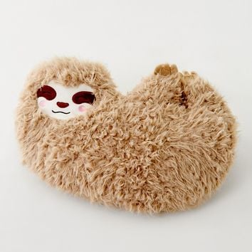 Ankit Faux Fur Sloth Pillow