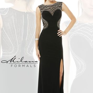 Stunning Black Milano Formals Evening Gown E1884