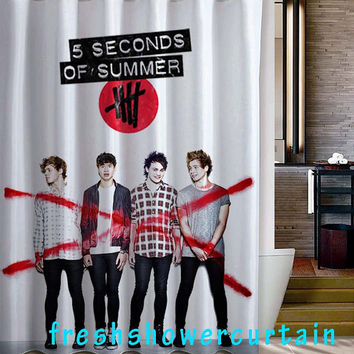 5 Seconds of Summer Shower Curtain